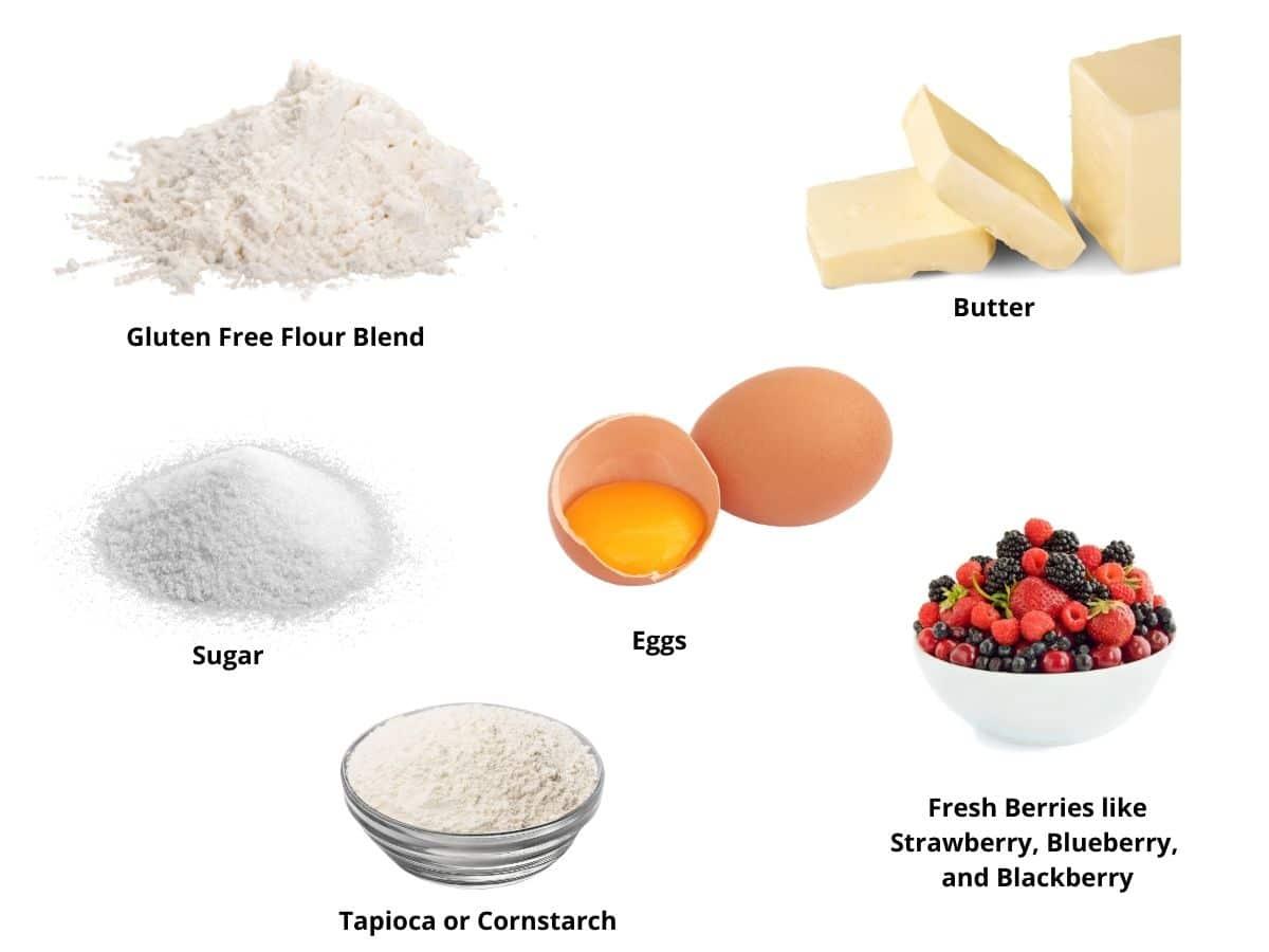 gluten free mixed berry pie ingredients