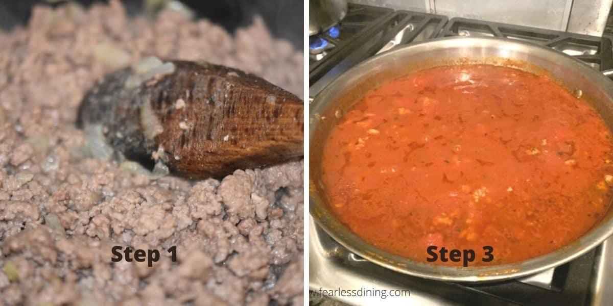 pasta sauce photos 1 and 3