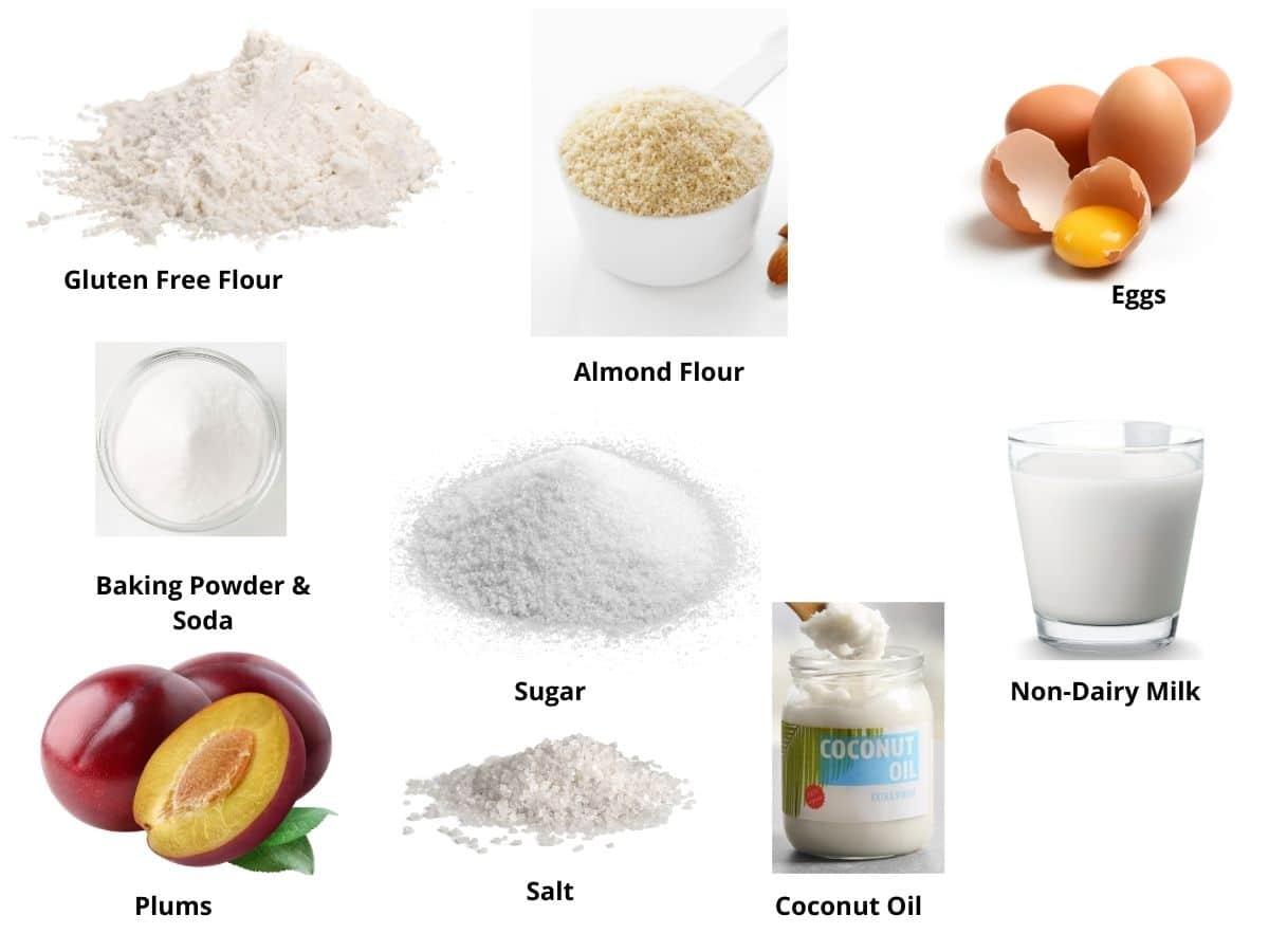 gluten free plum cake ingredients