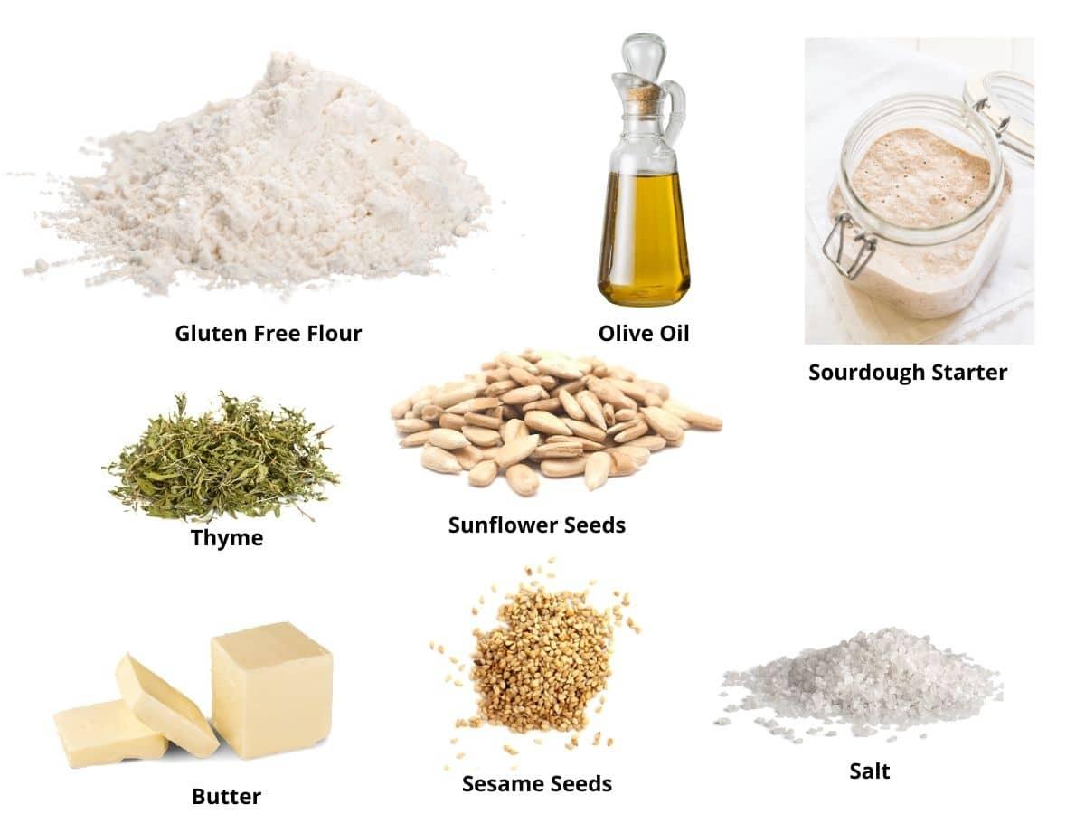 gluten free sourdough discard crackers ingredients