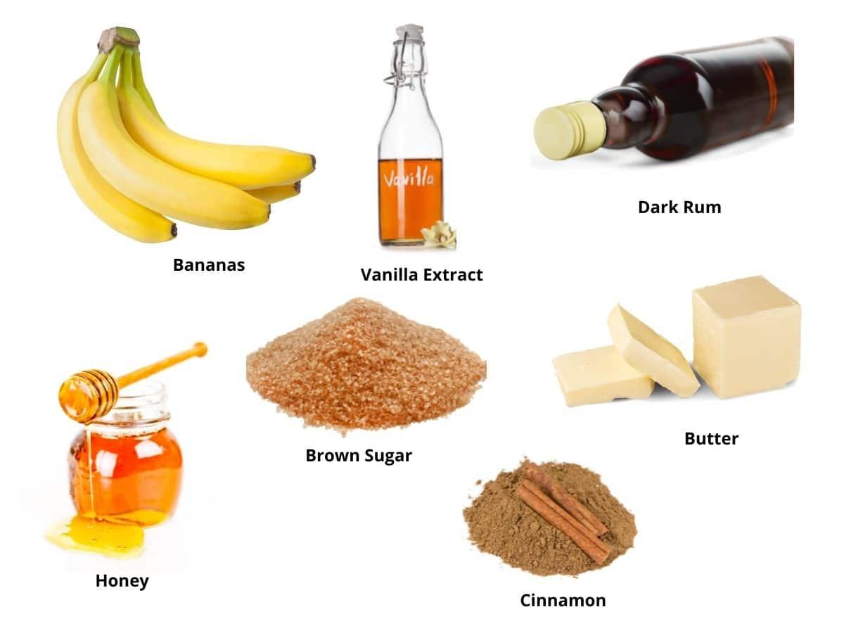 banana flambe ingredients