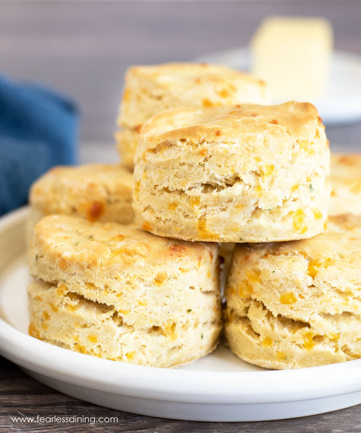 a stack of biscuits on a plate