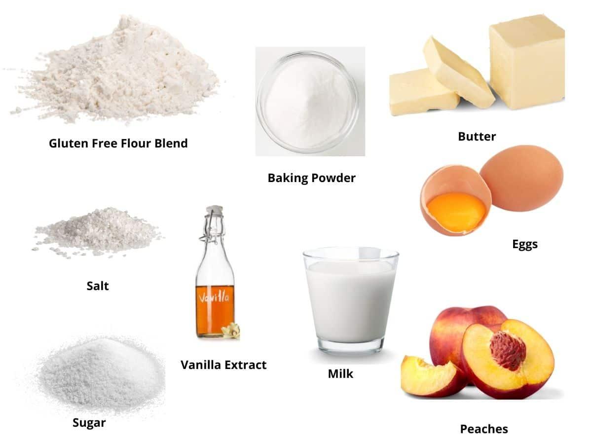 peach muffins ingredients