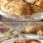 Pinterest pin of chicken and waffles