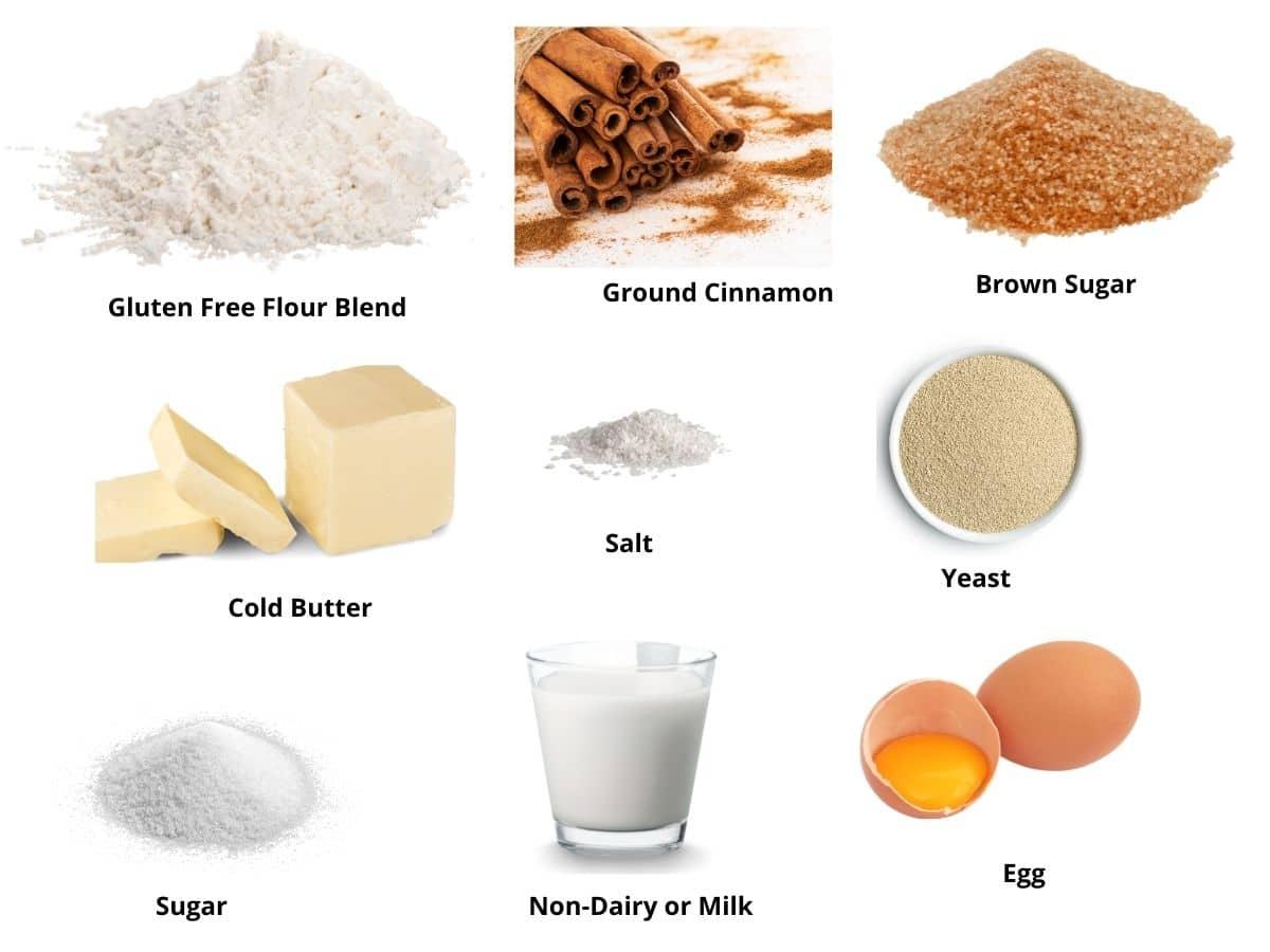 gluten free cinnamon rolls ingredients