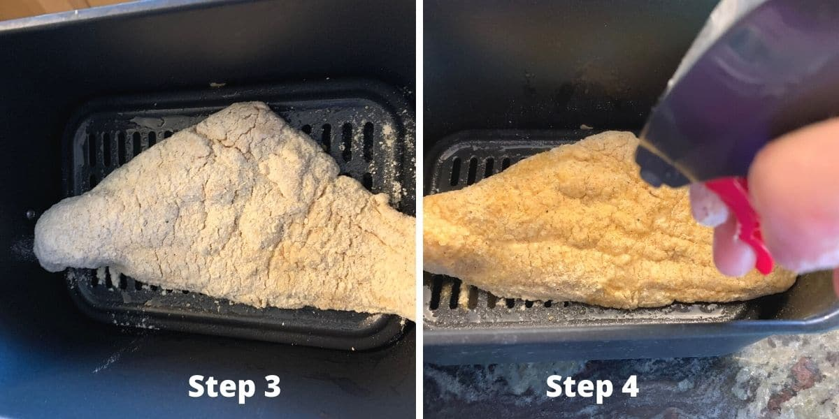 photos of cooking the catfish in the air fryer