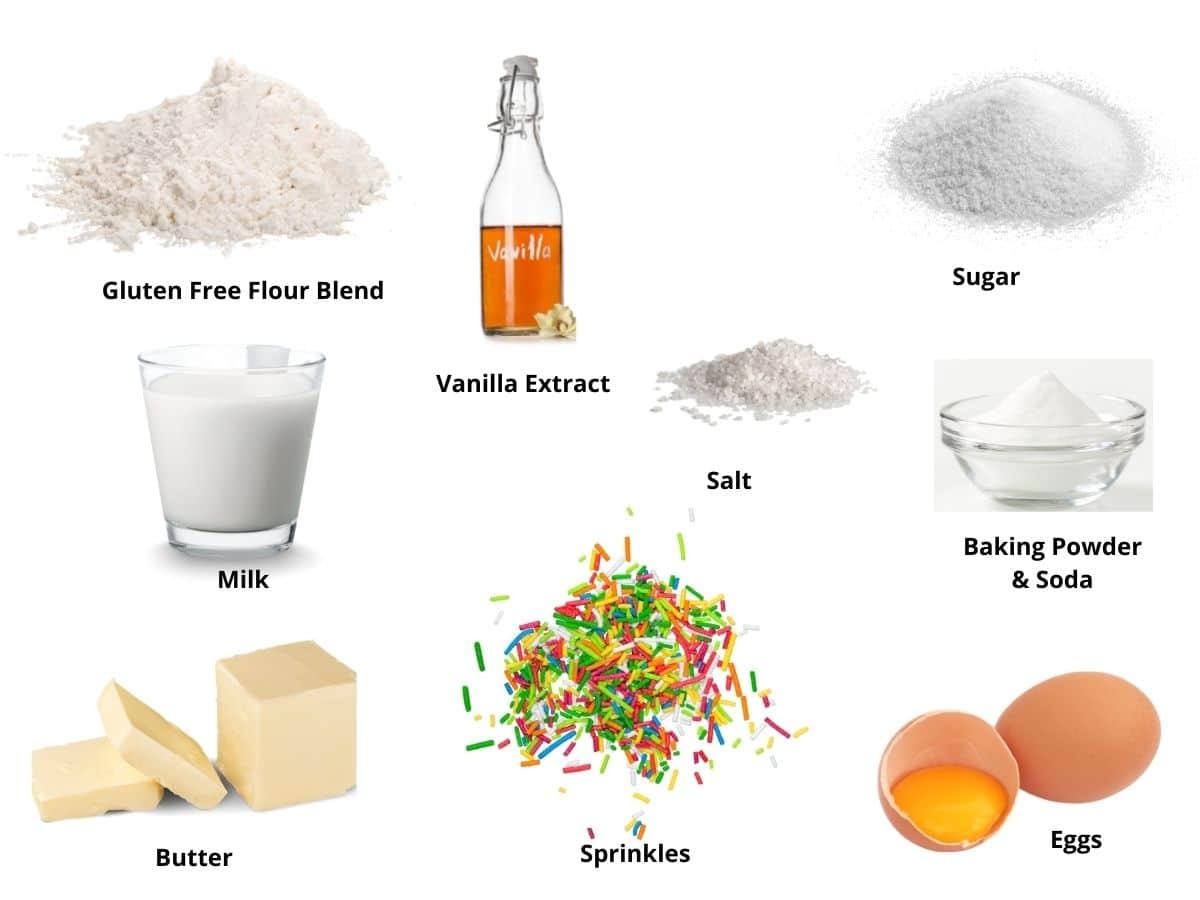 funfetti cupcakes ingredients