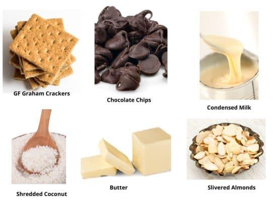 gluten free magic bars ingredients