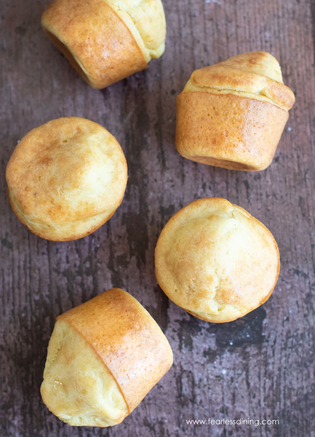 popovers on a table