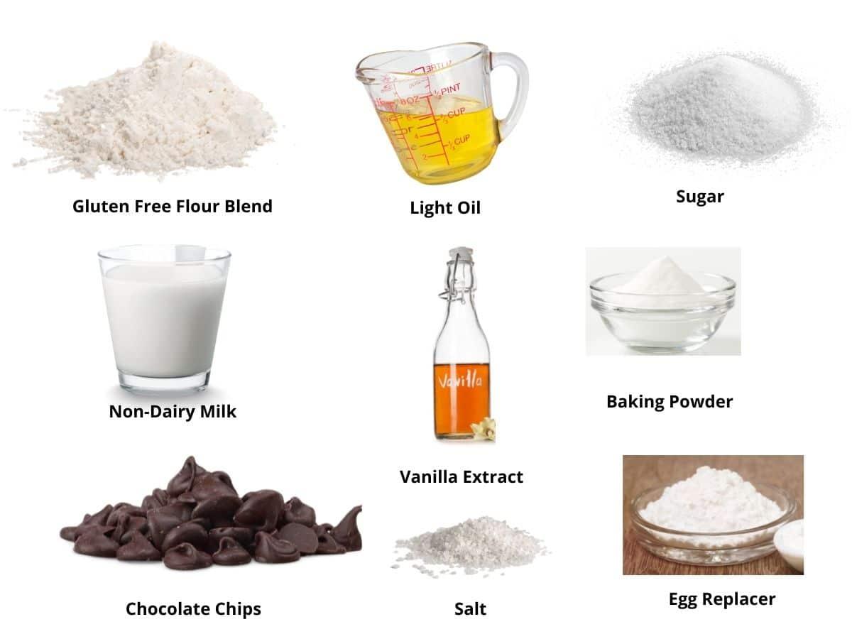 vegan chocolate chip muffins