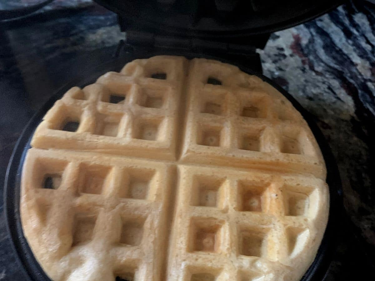 waffle in the waffle maker