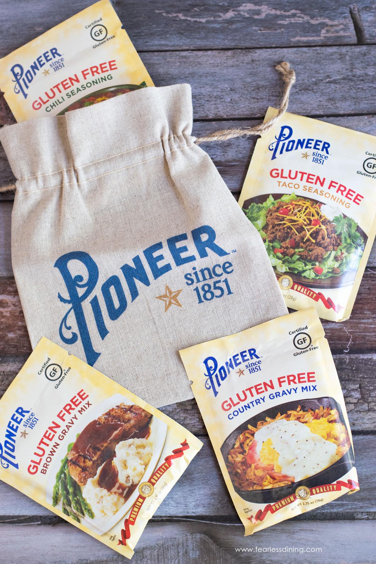 pioneer gluten free mixes