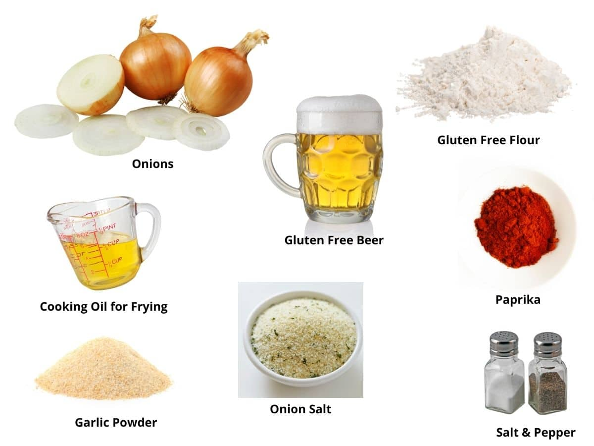 beer battered fried onion rings ingredients