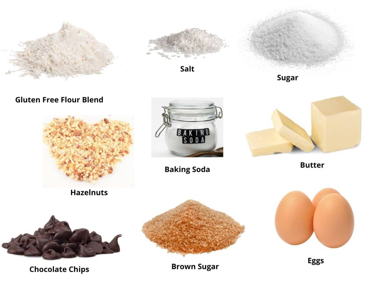 chocolate hazelnut cookies ingredients