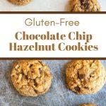 pin image of the chocolate hazelnut cookies