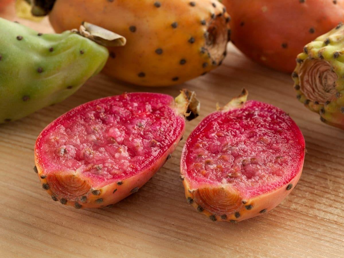 a cut prickly pear