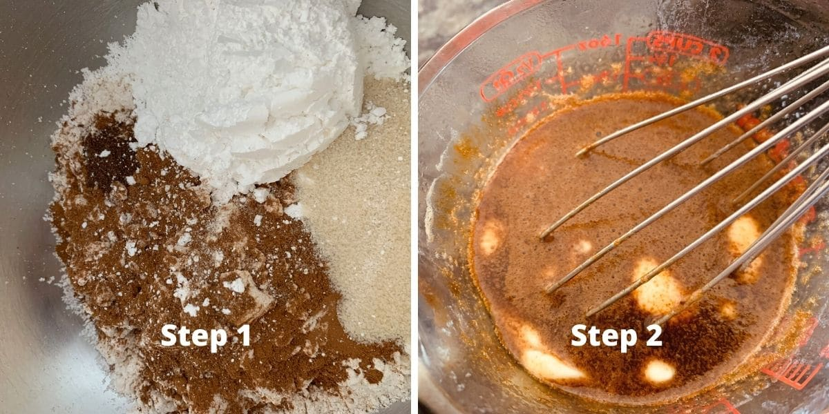 gingerbread shortbread steps 1 and 2