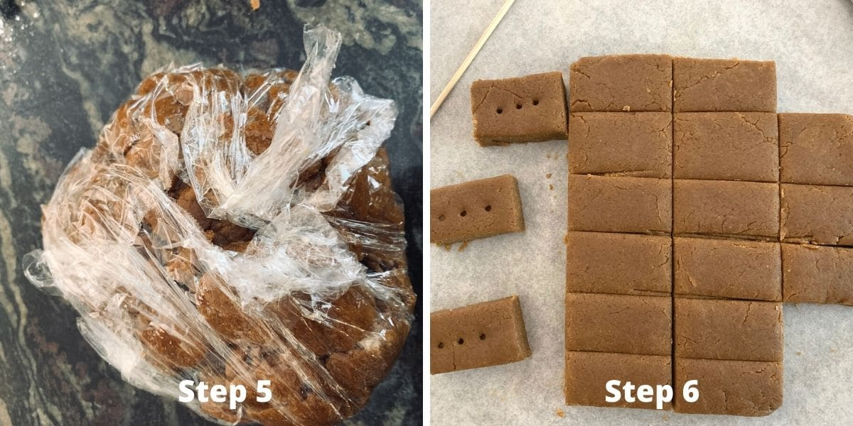 gingerbread shortbread steps 5 and 6 photos