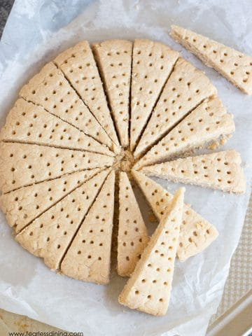 shortbread wedges in a circle