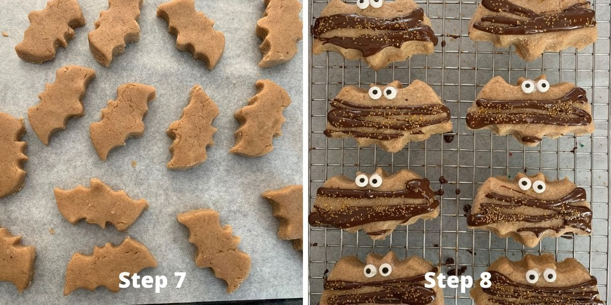 pumpkin shortbread photos of steps 7 and 8