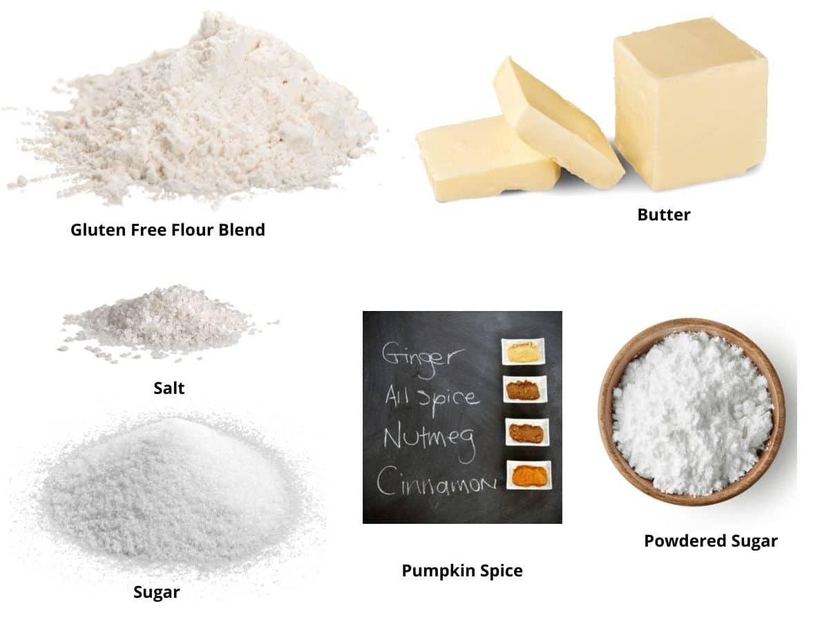gluten free pumpkin spice shortbread ingredients