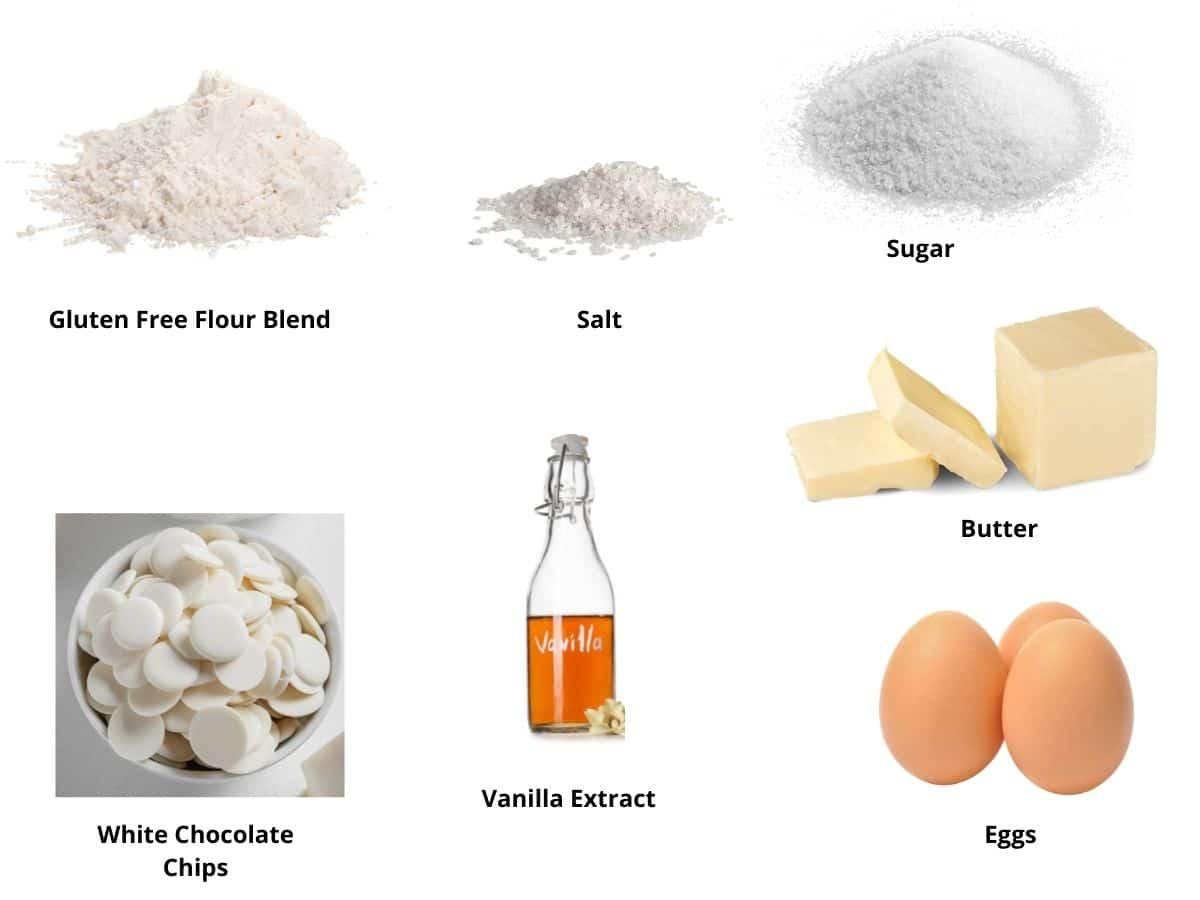 white chocolate brownies ingredients