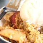 a pinterest collage pin of the apple crisp