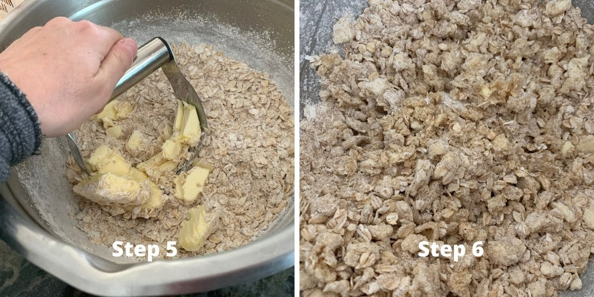 photos of making apple crisp steps 4 and 5