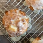 a pinterest collage of gluten free apple fritters
