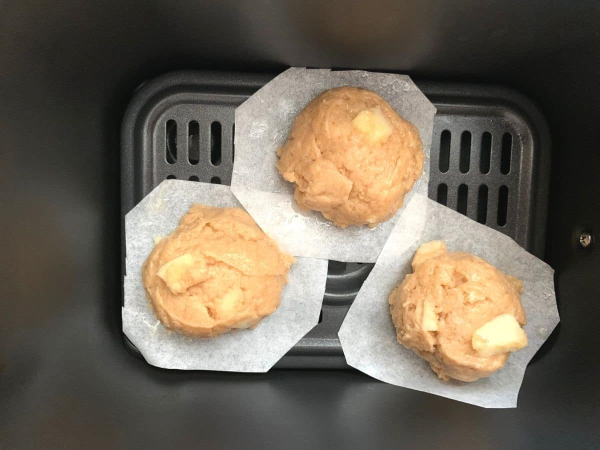 apple fritter dough in the air fryer
