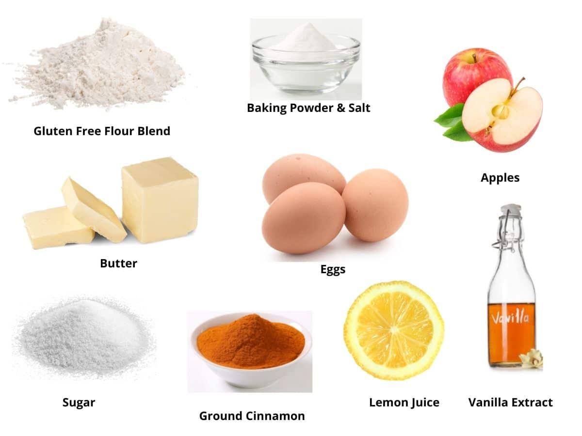 gluten free apple fritters ingredients