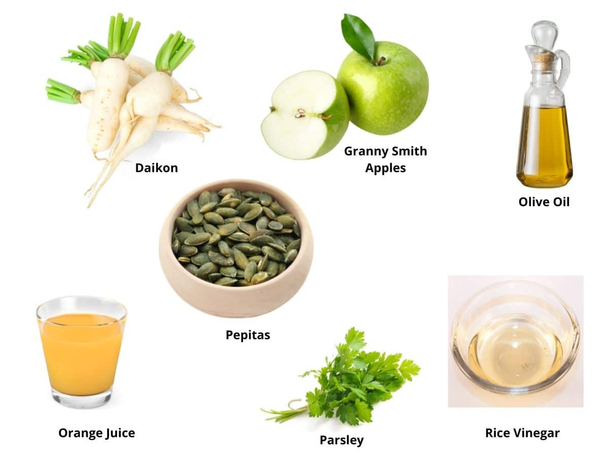 daikon salad ingredients