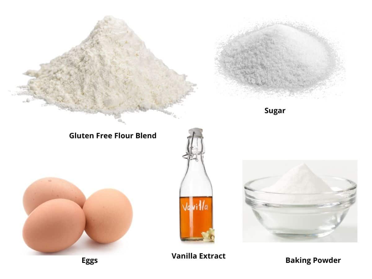 gluten free sponge cake ingredients