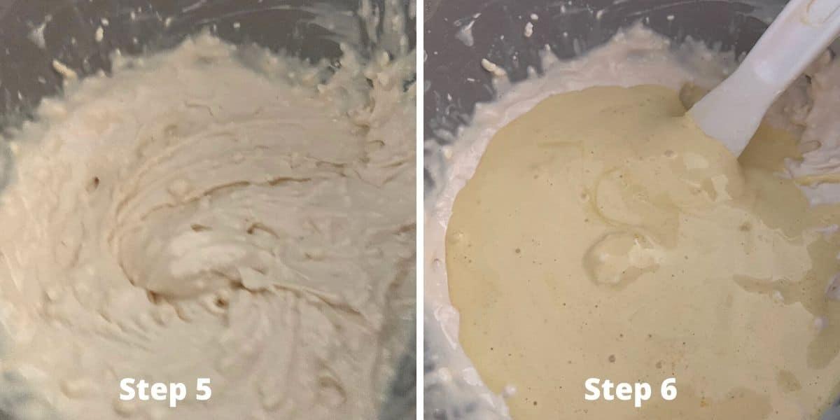 steps 5 and 6 photos of making tiramisu