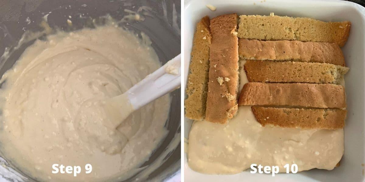 steps 9 and 10 photos of making tiramisu