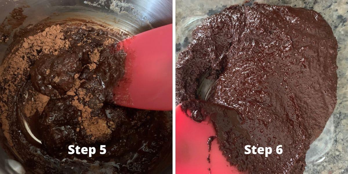 Making gluten free babka photos of steps 5 and 6