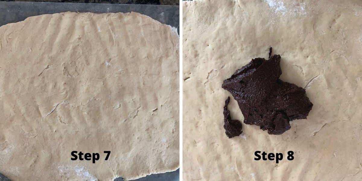 photos of steps 7 and 8 making babka