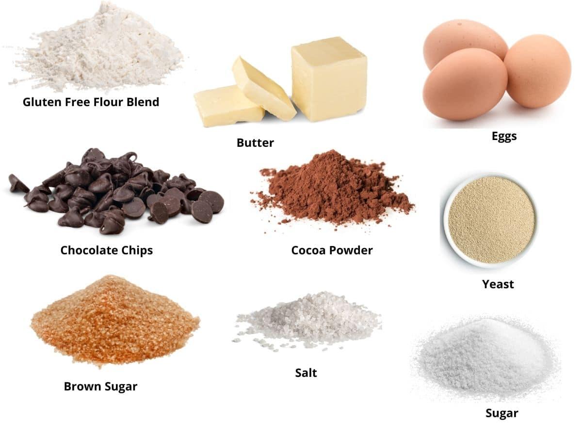 gluten free babka ingredients