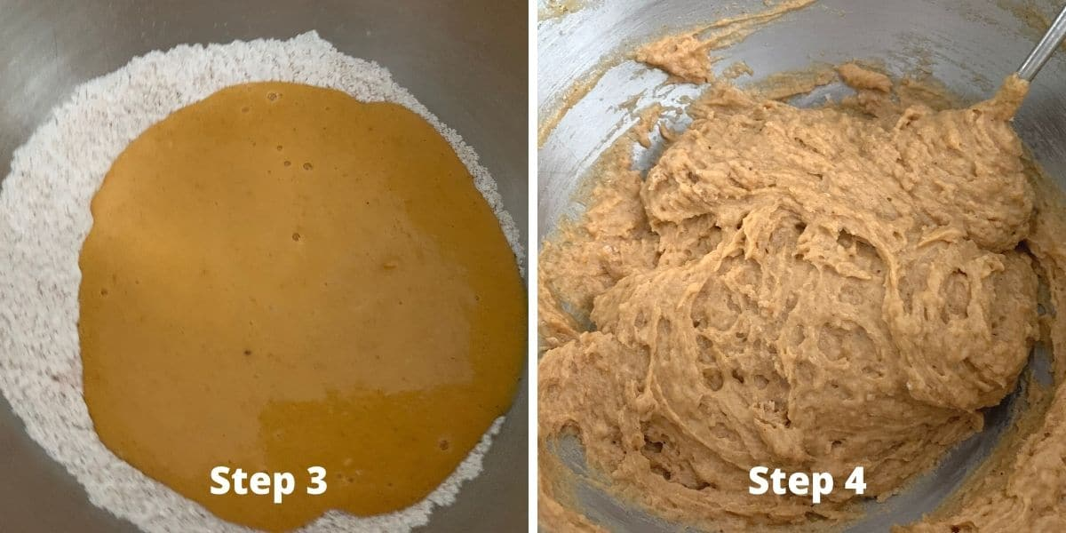 photos of making pumpkin cupcakes steps 3 and 4
