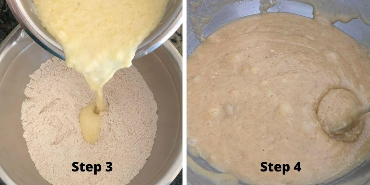 photos of making pumpkin spice popovers steps 3 and 4