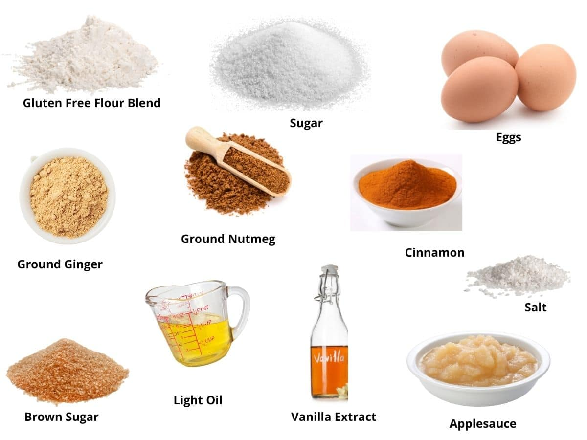 pictures of the spice cake ingredients